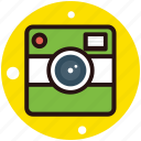 camera, digital camera, instant photo, instant photo camera, photography icon