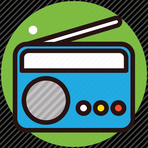 broadcasting, entertainment, radio, radio waves, sound icon