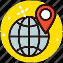 geotargeting, global location, international location, map pointer, world map