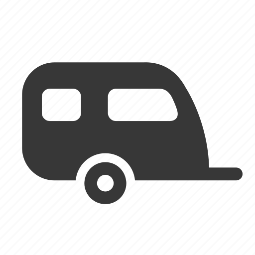 beach, camper, caravan, holiday, mobile home, raw, simple, vacation icon