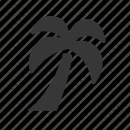 beach, holiday, palm tree, raw, simple, vacation icon