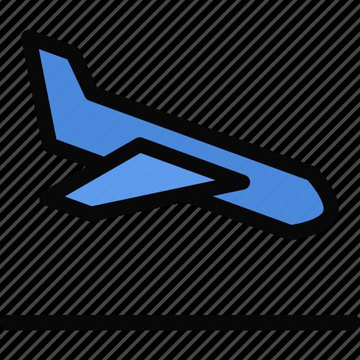 airplane, beach, camping, holidays, landing, tour, travel icon