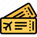airplane, beach, camping, holidays, tickets, tour, travel icon