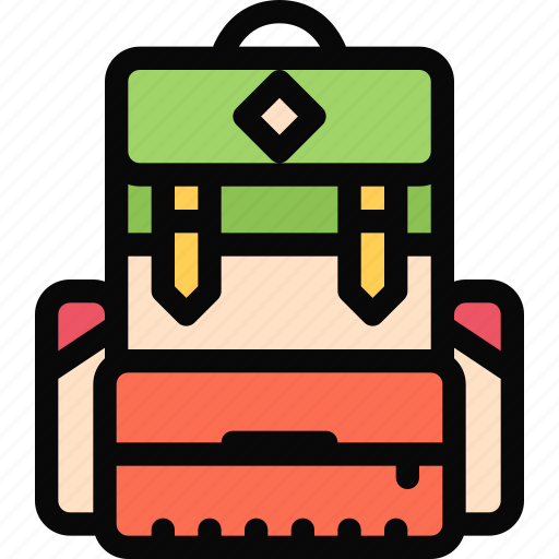 backpack, beach, camping, holidays, tour, travel, vacation icon
