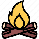 beach, bonfire, camping, holidays, tour, travel, vacation icon