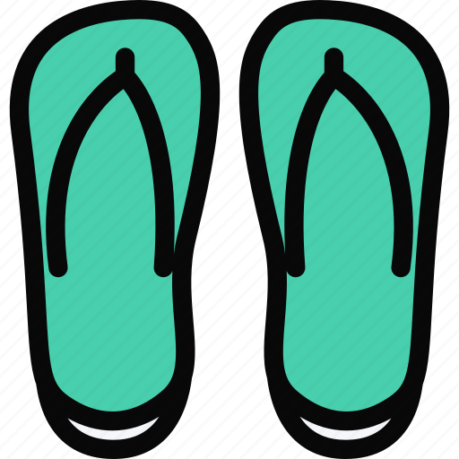 beach, camping, flip, flops, holidays, tour, travel icon