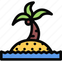 beach, camping, holidays, island, tour, travel icon