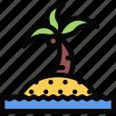 beach, camping, holidays, island, tour, travel icon