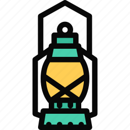beach, camping, holidays, lamp, tour, travel icon