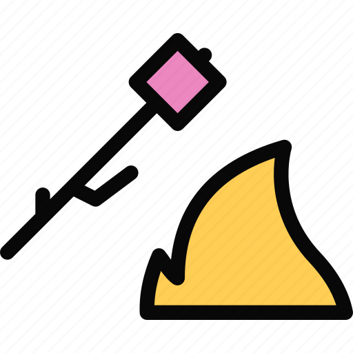 beach, campfire, camping, holidays, marshmallow, tour, travel icon