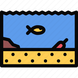 beach, camping, holidays, tour, travel, undersea, world icon