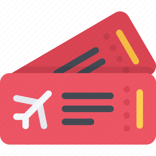 airplane, beach, camping, resort, tickets, travel, vacation icon