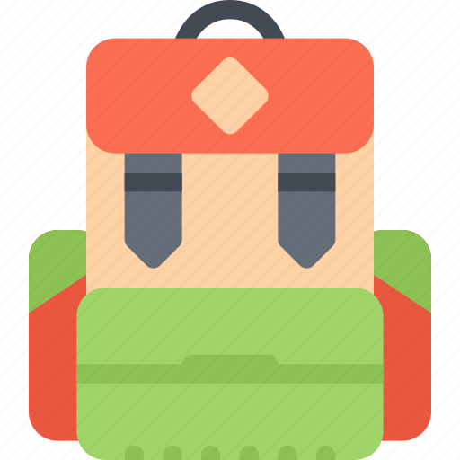 backpack, beach, camping, resort, travel, vacation icon
