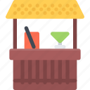 bar, beach, camping, resort, travel, vacation icon