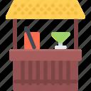 bar, camping, travel, vacation, resort, beach