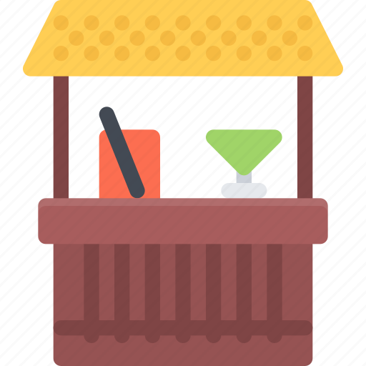 bar, beach, camping, resort, travel, vacation icon