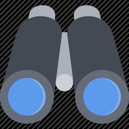 beach, binoculars, camping, resort, travel, vacation icon