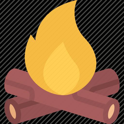 beach, bonfire, camping, resort, travel, vacation icon