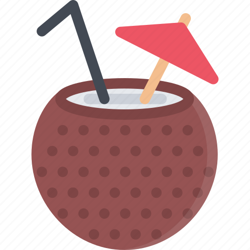 beach, camping, cocktail, coconut, resort, travel, vacation icon