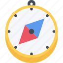 beach, camping, compass, resort, travel, vacation icon