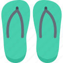 beach, camping, flip, flops, resort, travel, vacation icon
