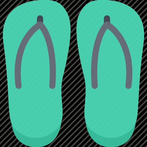 beach, camping, flip, flops, resort, travel, vacation icon