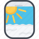airplane, beach, camping, porthole, resort, travel, vacation icon