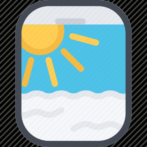 airplane, beach, camping, porthole, resort, travel, vacation icon