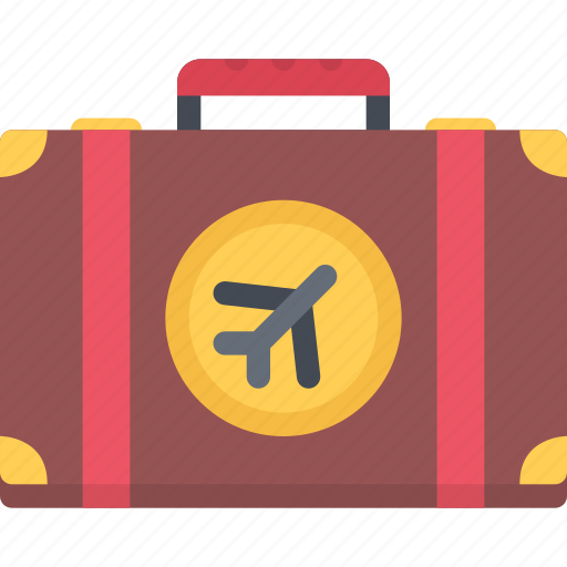 beach, camping, resort, suitcase, travel, vacation icon
