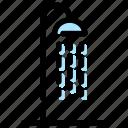 bath, beach, shower icon