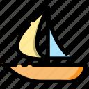 beach, boat, holiday, sail icon