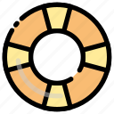 beach, floating, rubber tires, swimming icon