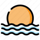beach, holiday, sunset icon