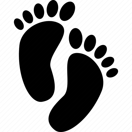feet, foot, footprints icon