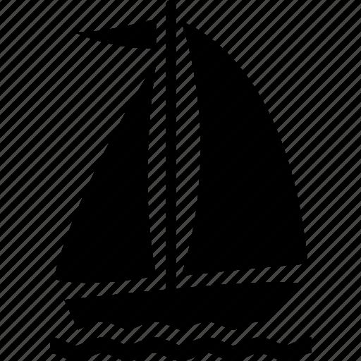 boat, marine, recreation, sail, sailboat, sailing icon