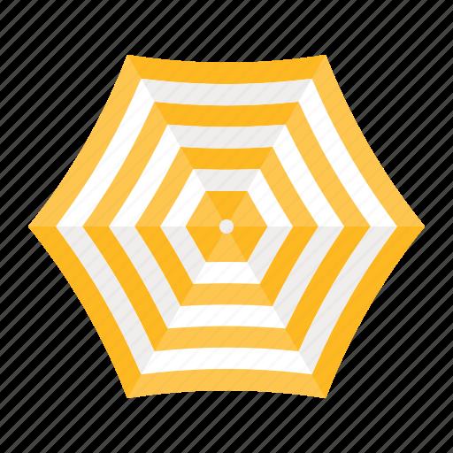 beach, parasol, protection, summer, sunrise, sunshade, top view, umbrella icon