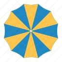 Beach Umbrella Flat Icons By Icon Stall