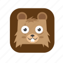 1, bear, cute icon