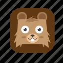 2, bear, cute icon