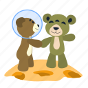 alien, bear, fun, greeting, meeting, spaceman, teddy icon