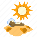 bear, lay, rest, space, spaceman, sun, teddy icon