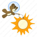 bear, marshmellow, roasting, spaceman, sun, teddy, teddy-bear icon