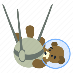 bear, explorer, satellite, space, spaceman, sputnik, teddy icon
