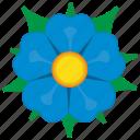 bud, cornflower, flower, plant icon