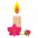 fire, flower, orchid, rest, spa icon