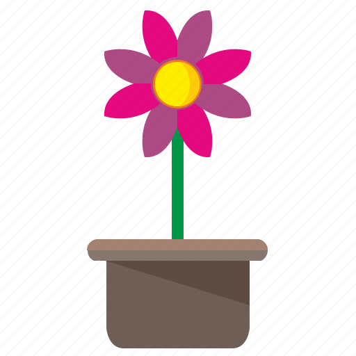 bud, flower, open, plant, pot icon