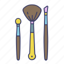 brushes, cosmetic, eye, make up, tool icon