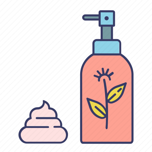 clean, eco, ecological, foam, plant, soap, tube icon