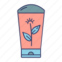 conditioner, cream, hair, organic, plant, shampoo icon