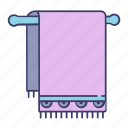 bath, bathroom, clean, towel, wash icon